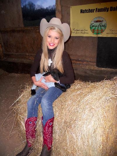 Teresa Scanlan & Friend at Hatcher Dairy Farm