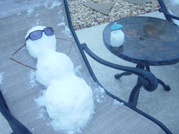 snowman relaxing
