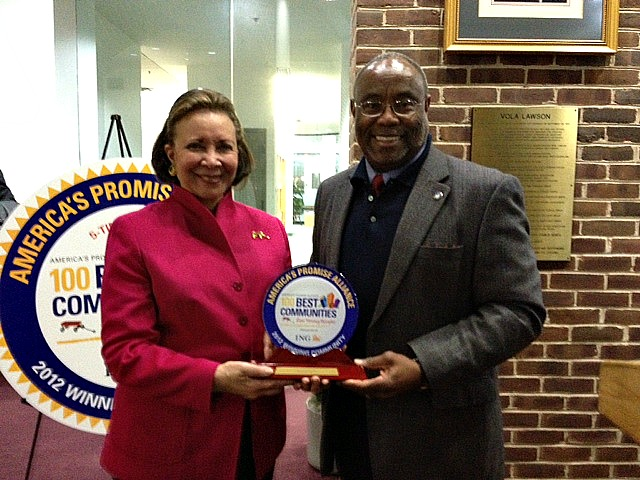 Alma Powell and Mayor Euille