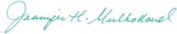 Jennifer Mulholland signature