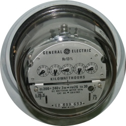 Electric Meter from Dave's House