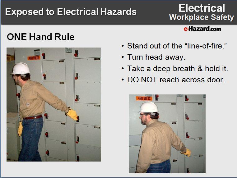 e-Hazard One Hand Arc Flash Rule