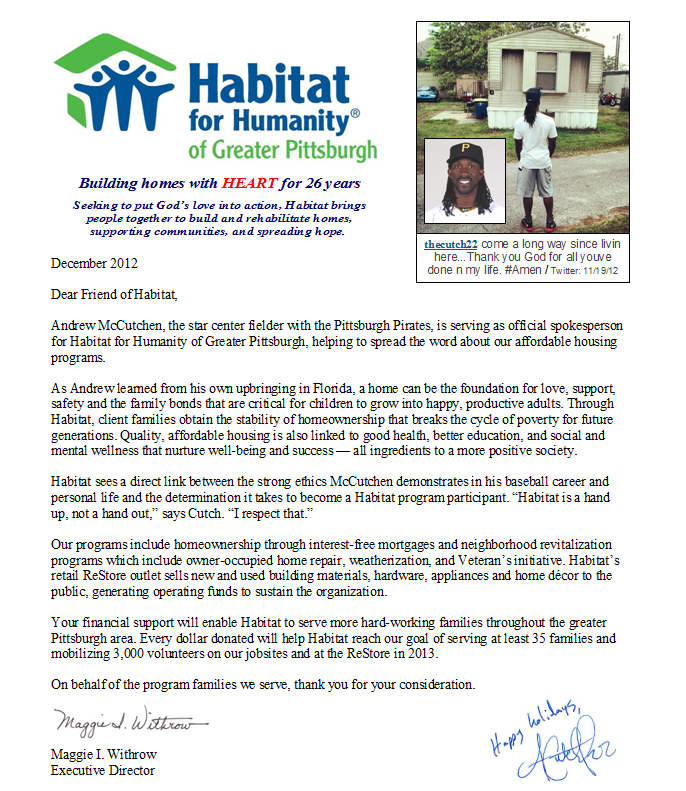 Habitat For Humanity Holiday Appeal