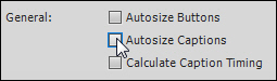 Disable the autosize feature in Captivate.