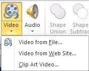 Insert a video