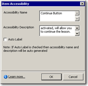Adding custom accessibility to a slide object