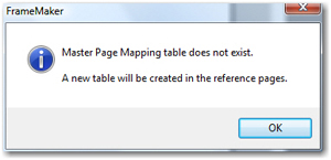 create the new table on the reference pages