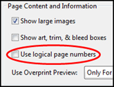 Use logical page numbers