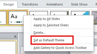 Set as Default Theme