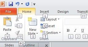 More PowerPoint keystrokes