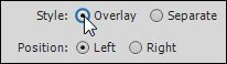 Overlay option.