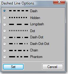 FrameMaker Dashed Line Options