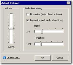 Audio Volume Controls