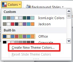 Create a color theme.