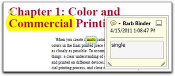 PDF colors.