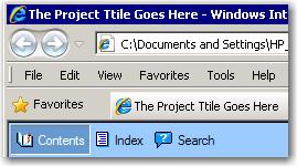 Project Title via a Web browser