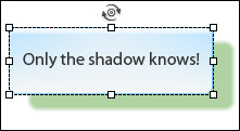 An object with a shadow in Adobe Captivate 5.5.