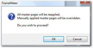 Apply Master Pages