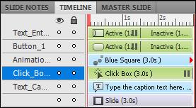 Captivate 5.5 Timeline colors
