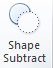 Shape Subtract tool