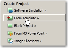 Create a new project using a project template.