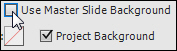 Master Slide background disabled.