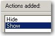 Hide and Show actions