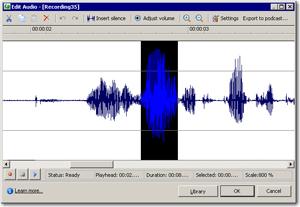Audio that is too loud.