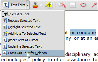 Acrobat's Text Edit Tools