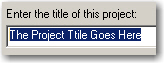 Project Title created