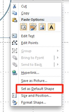 Set as Default Shape in PowerPoint 2010.