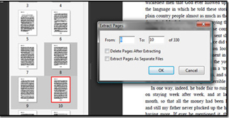 Extract PDF pages