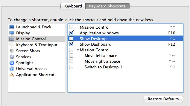 Mac keyboard shortcuts.