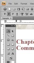 Undocked toolbar