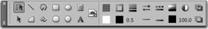 FrameMaker horizontal toolbar