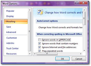 Make sure that the Ignore words in UPPERCASE checkbox is not selected