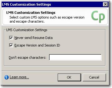 LMS Customization Settings