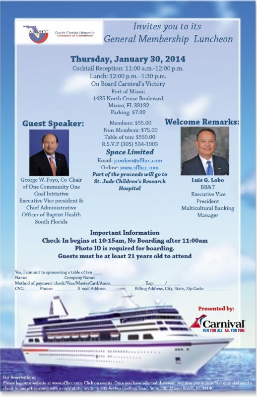 General Membership Luncheon At Carnival39s Victory Cruise Ship