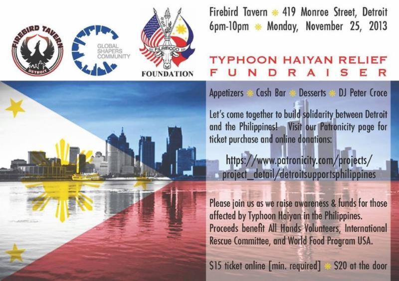 Typhoon Haiyan relief fundraiser