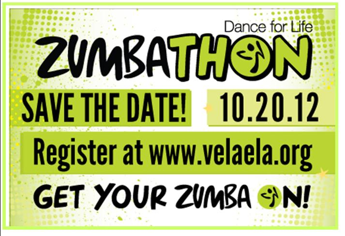 Zumbathon Post Card Horizontal Side 2012