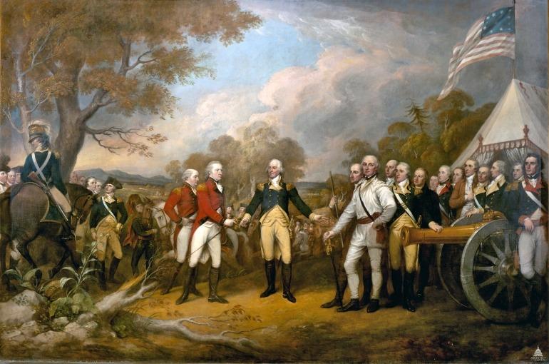 Surrender of General Burgoyne by John Trumbull,