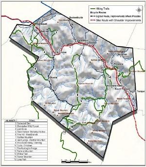 Town of Shandaken Trails Map