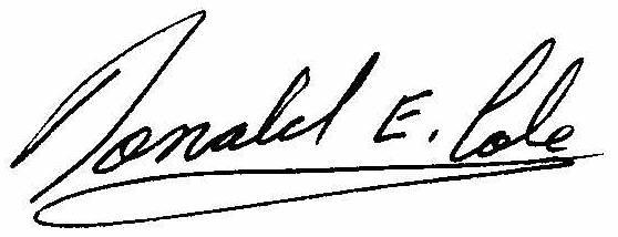 Signature-Donald-E-Cole