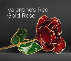 Valentines Red Gold Rose