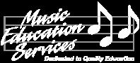 Music Education Services Logo Gray/White Transparent