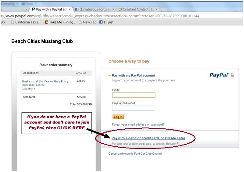 PayPal Non Member BCMC correct