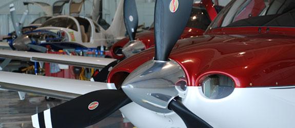 woodland aviation maintenance hangar