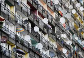 sat dishes balconies