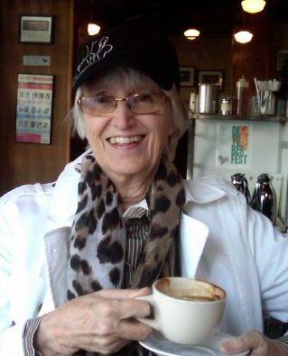 Dorothy James in Cafe