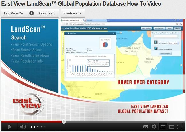 East View LandScan™ Global Population Database How To Video